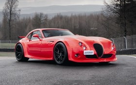 Картинка car, машина, обои, red, Wiesmann, MF4-CS