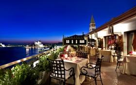 Обои закат, Italy, небо, Город, море, Grand Canal, природа