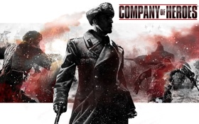 Картинка война, танк, мужчина, THQ, Company of Heroes, Бука, Relic Entertainment