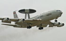 Картинка самолёт, Боинг, E-3, дальнего, обнаружения, радиолокационного, «Сентри»