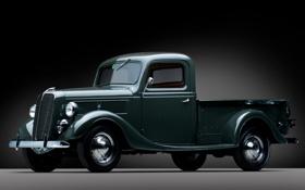 Обои ретро, Ford, Форд, полумрак, пикап, передок, 1937