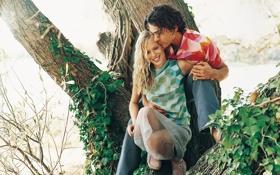 Обои любовь, люди, дерево