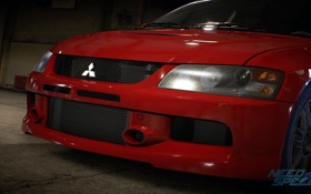 Обои Mitsubishi, Lancer, red, Evolution, Electronic Arts, Need For Speed 2015