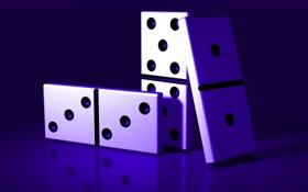 Обои macro, dominoes, background, navy blue color, game