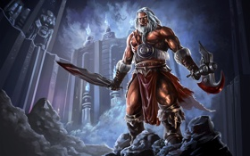 Картинка меч, топор, diablo 3, варвар, barbarian, reaper of souls