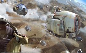 Обои фантастика, улитки, космические корабли, CG wallpapers, чужая планета, Fred Bastide, странные существа