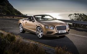 Обои дорога, Bentley, Continental, бентли, континенталь, GTC, 2015