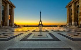 Картинка город, башня, Париж