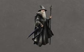 Обои темный фон, Властелин колец, The Lord of the Rings, Gandalf, Гэндальф, мудрый волшебник