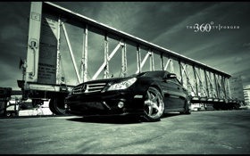 Обои on 360 Forged Straight 5ive, Mercedes, CLS 55