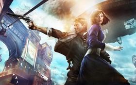 Обои пистолет, games, Bioshock Infinite