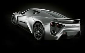 Картинка Zenvo, серая, supercar, мощная