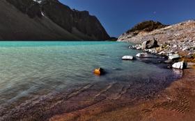 Картинка песок, море, вода, пейзаж, горы, природа, озеро