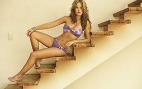 Картинка модель, лестница, ступени, бикини, Melissa Giraldo