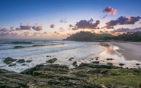 Обои australia, pacific ocean, cabarita beach, coast