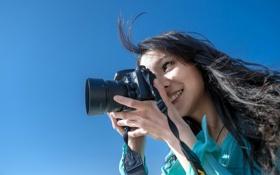 Картинка девушка, фотоаппарат, Tomomi