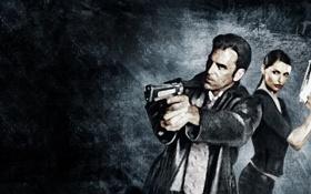 Обои пистолет, игра, game, оружее, Desert Eagle, Beretta, Mona Sax