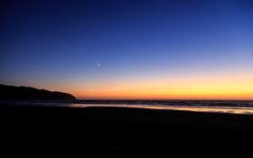 Обои Oregon, побережье, Cape Lookout, рассвет, океан