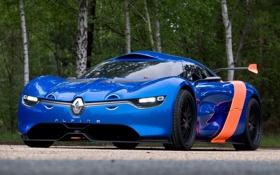 Картинка Concept, мощь, Renault, автомобиль, передок, Alpine, A110-50