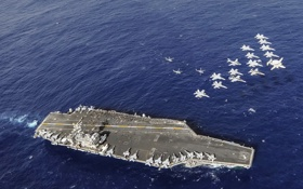 Обои USS Nimitz, PACIFIC OCEAN, Carrier Air Wing