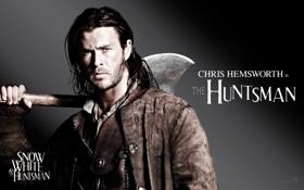 Обои фильм, мужик, актер, топор, Snow White and the Huntsman, Белоснежка и охотник, Крис Хемсворт
