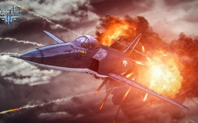 Обои самолет, огонь, aviation, авиа, MMO, Wargaming.net, World of Warplanes