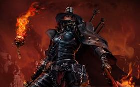 Обои игра, Warhammer, 40k, сервочереп, Инквизитор, Имперская гвардия, DoW2