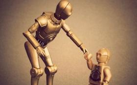 Обои игрушка, робот, Star Wars, лего, переводчик, C-3PO