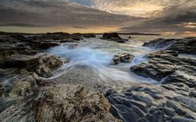Обои море, облака, природа, камни