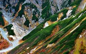 Картинка горы, скалы, Япония, порода, Tateyama