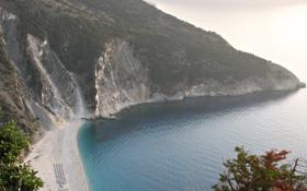 Обои песок, море, пляж, деревья, природа, океан, скалы