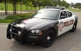 Обои машина, car, Dodge Charger, muscle, police, Dodge
