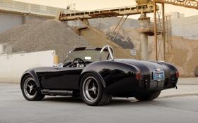 Обои фон, чёрный, тюнинг, суперкар, вид сзади, tuning, Cobra