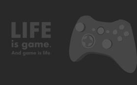 Обои Life, джойстик, game, фраза