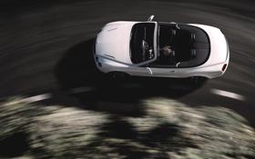 Картинка Авто, Bentley, Continental, Белый, Машина, Кабриолет, Вид сверху