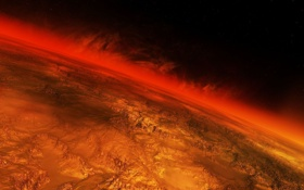Обои планета, The End, буря, пламя