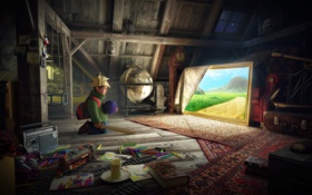 Картинка Сказка, мальчик, картина