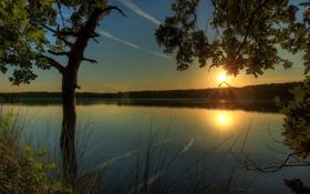 Обои природа, река, фото, Германия, Гессен