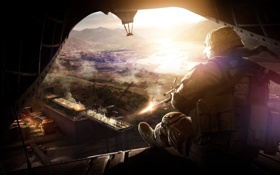 Обои Война, Вертолет, Red River, Operation Flashpoint, Огонь