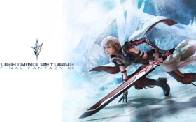 Картинка меч, girl, Final Fantasy XIII, Lightning, Lightning Returns