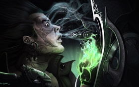 Обои магия, рука, арт, битва, татуировки, Diablo 3, Wizard