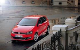 Картинка Красный, Город, Германия, Volkswagen, Машина, Обои, Red
