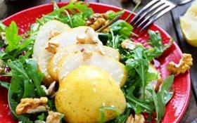 Обои зелень, груша, орехи, nuts, кунжут, pears, sesame