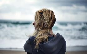 Картинка фон, девушка, море
