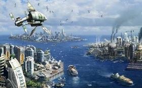 Обои острова, города, цивилизация, ANNO 2070
