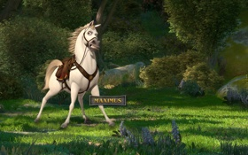 Обои maximus, максимус, мультфильм рапунцель, конь