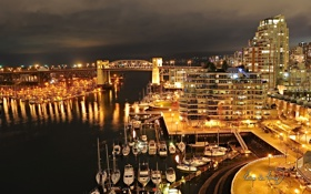 Картинка Город, Свет, Ванкувер