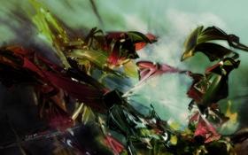 Обои фрагмент, оттенки, узор, цвета. надпись, абстракция, арт, рисунок