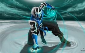 Обои mortal kombat, Sub-Zero, art, жест, парень, магия, маска