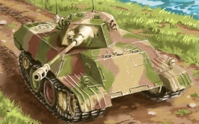 Обои арт, леопард, танк, leopard, немецкий, VK 1602, экспериментальный